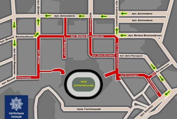 Олімпійський обмеження руху карта перекриють рух авто Київ дебати