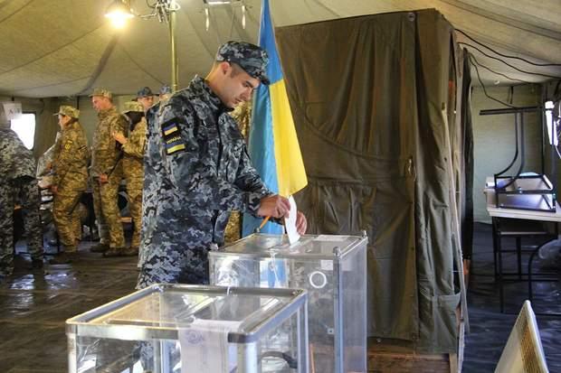 Як обирають президента українські військові на Донбасі