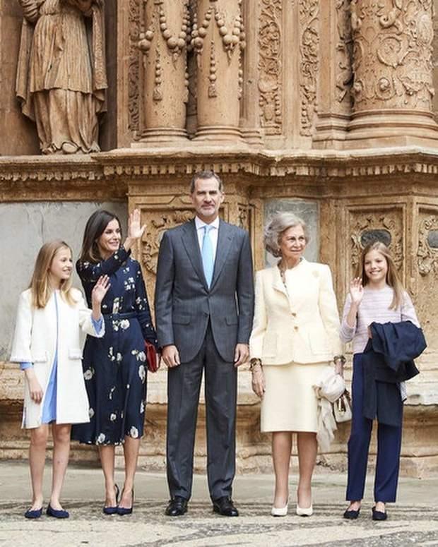 Королівська сім'я Іспанії королева Летиція