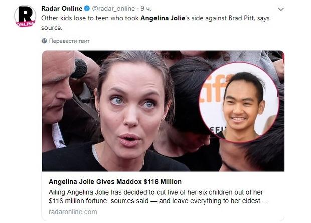 Анджеліна Джолі написала заповіт
