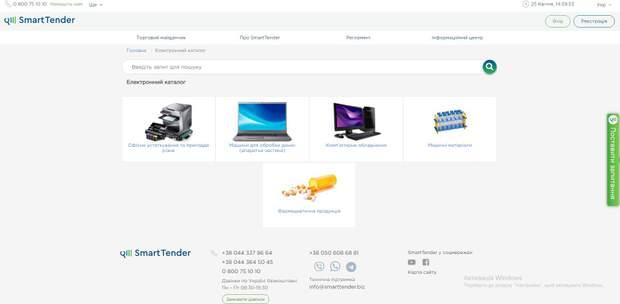 електронні каталоги закупівлі Prozorro
