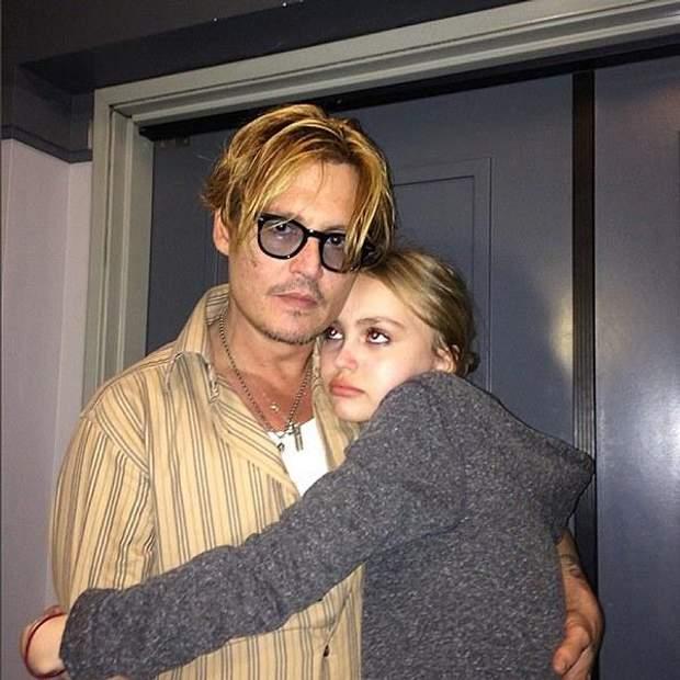 Джонні Депп з донькою