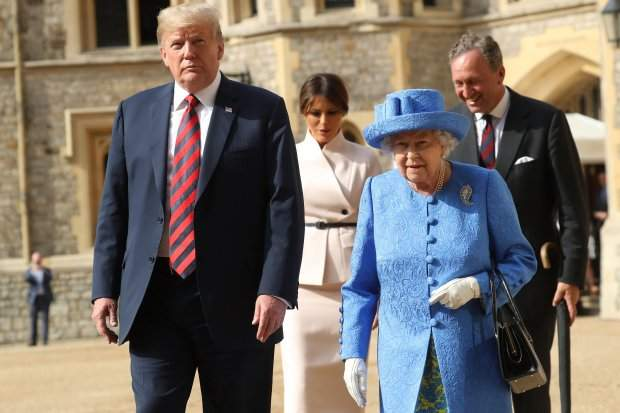 трамп єлизавета лондан британія сша