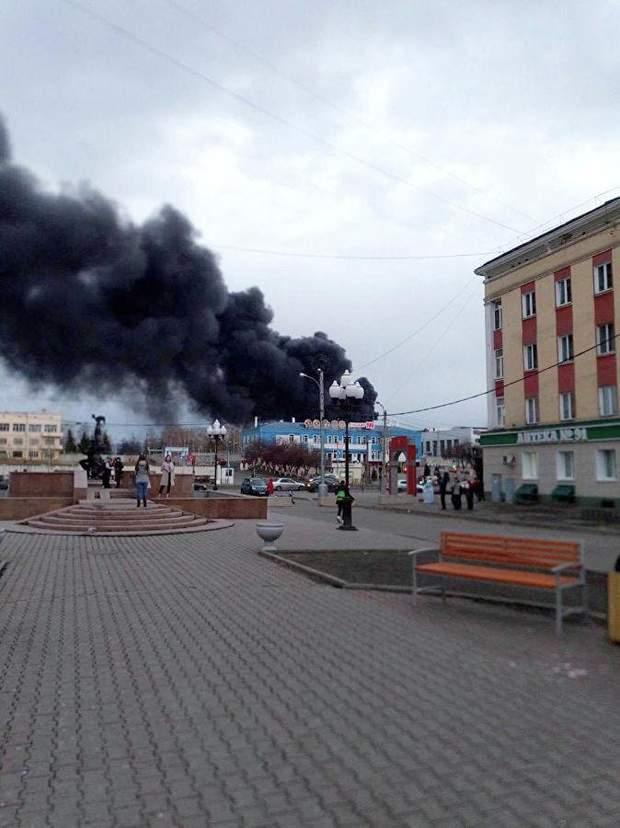 Пожежа, Красмаш, Красноярськ, Росія, ракети
