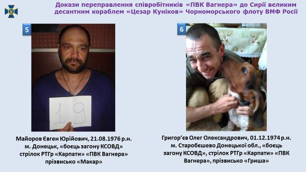 Вагнера, Росія, Сирія, Донбас, Майоров, Григор'єв, СБУ