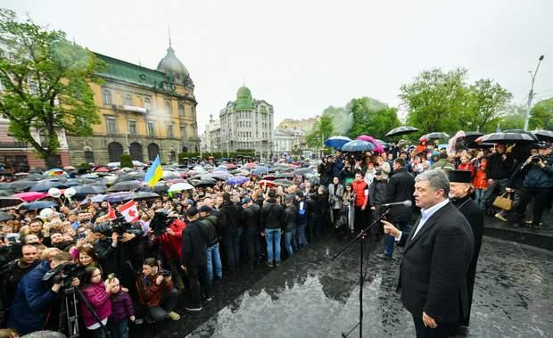 Порошенко, Львів, Великдень