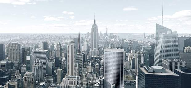 Нью-Йорк панорама хмарочос