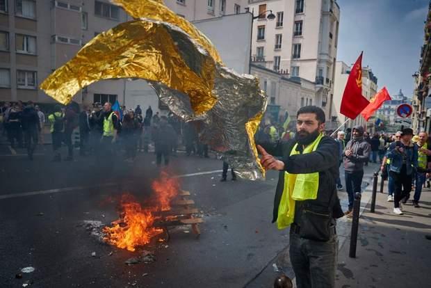 Сутички на першотравневих демонстраціях у Парижі//Фото: Getty Images