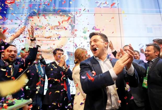 Володимир Зеленський переміг на виборах