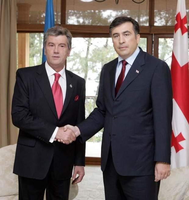Віктор Ющенко та Міхеїл Саакашвілі