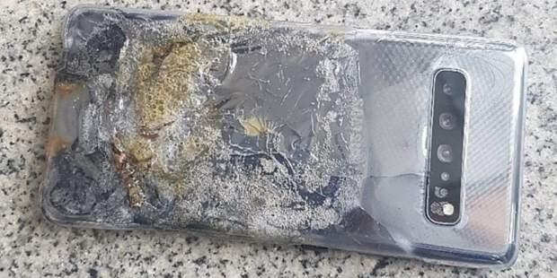 Смартфон Samsung Galaxy S10 5G загорівся