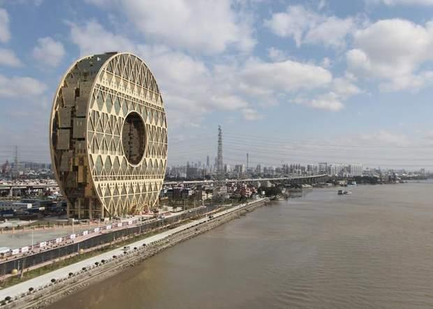 Китай круглий хмарочос Гуанчжоу