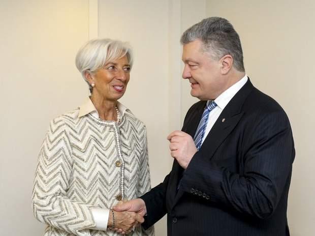 Крістін Лагард, Петро Порошенко