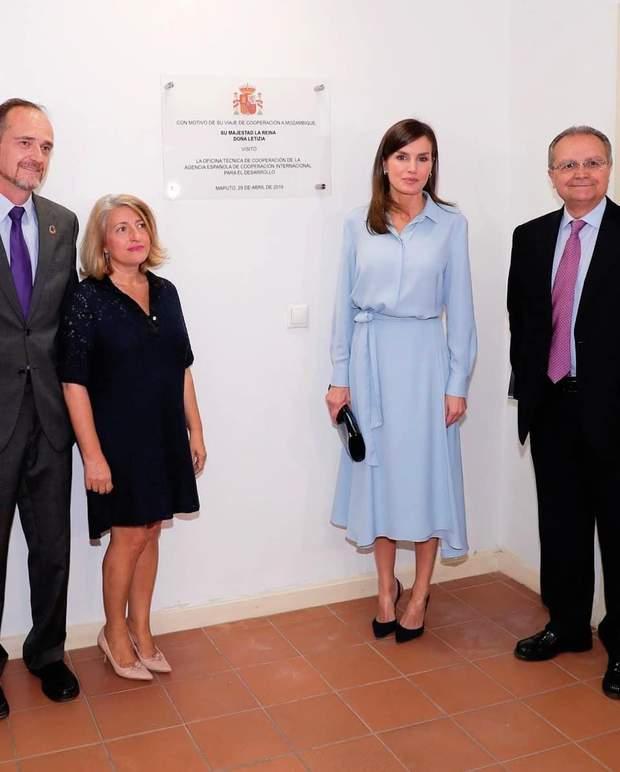 Королева Летиція на офіційній зустрічі в Мадриді