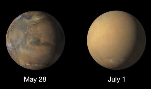 Пилові бурі могли стати причиною зникнення води на Марсі