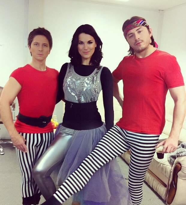 Маша Єфросиніна з Сергієм Притулою та Олександром Педаном