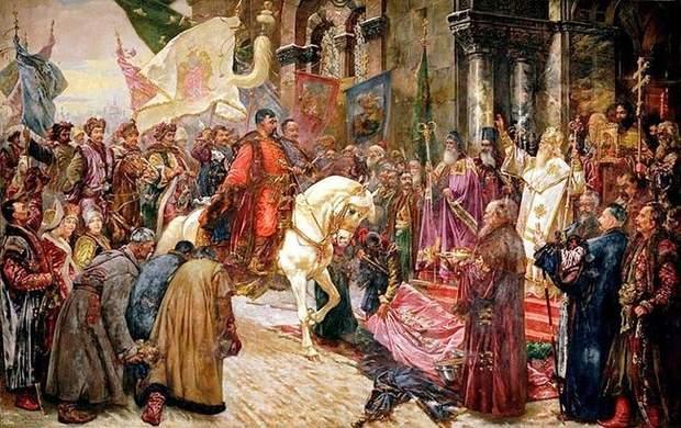 Хмельницький заїхав до Києва через Золоті ворота