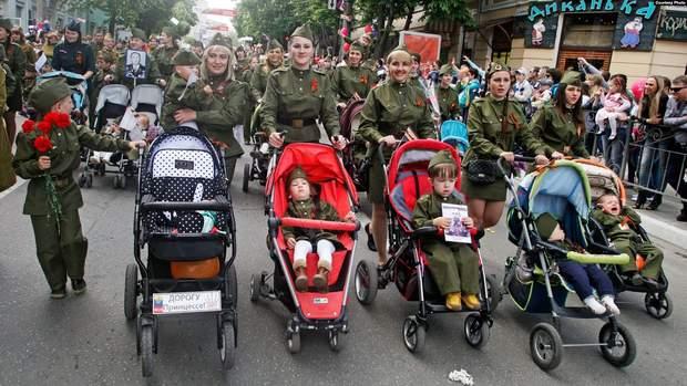 Крым 9 мая дети парад