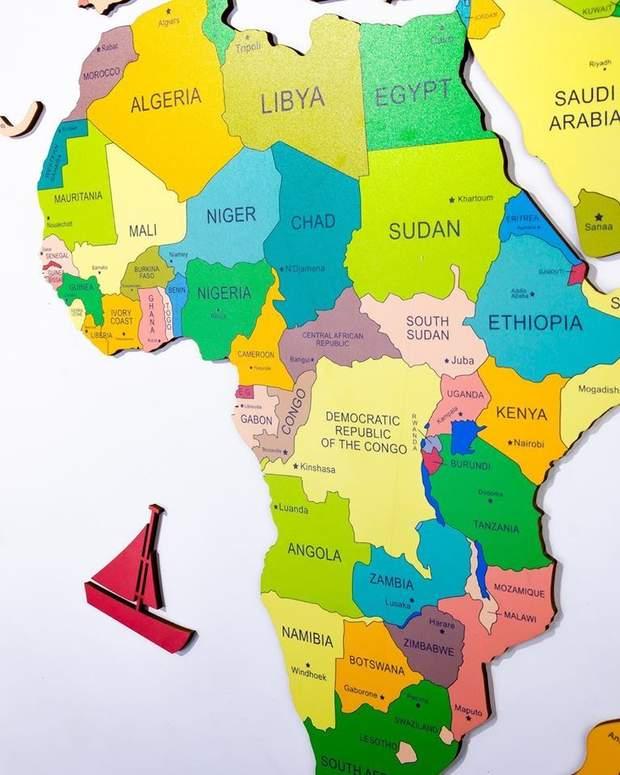 мапа карта кольорова EnjoyTheWood