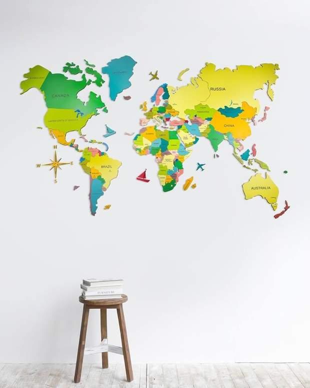 карта мапа кольорова дизайн інтерєр