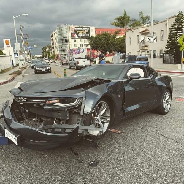 Макс Барських потрапив у ДТП: фото з місця аварії