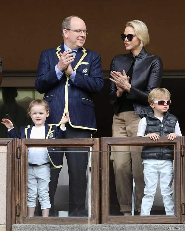 Княгиня Монако з чоловіком