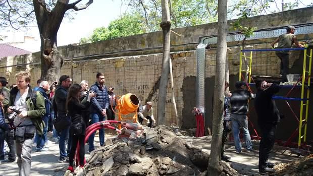 Одеса протести забудова Літній театр