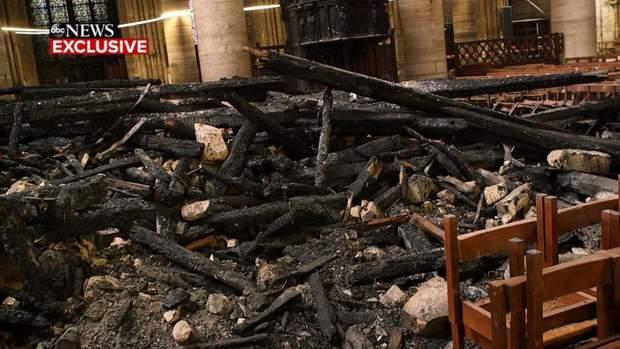 Собор Паризької Богоматері інтер'єр пожежа Нотр-Дам де Парі