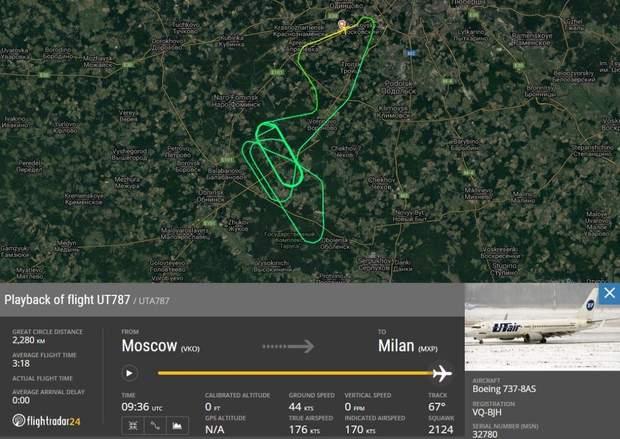 літак Росія посадка екстрена посадка