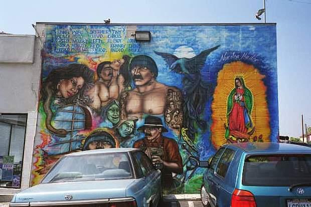 Вуличні графіті, що характеризували 18th Street Gang