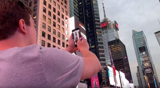 Таймс Сквер реклама Нью-Йорк