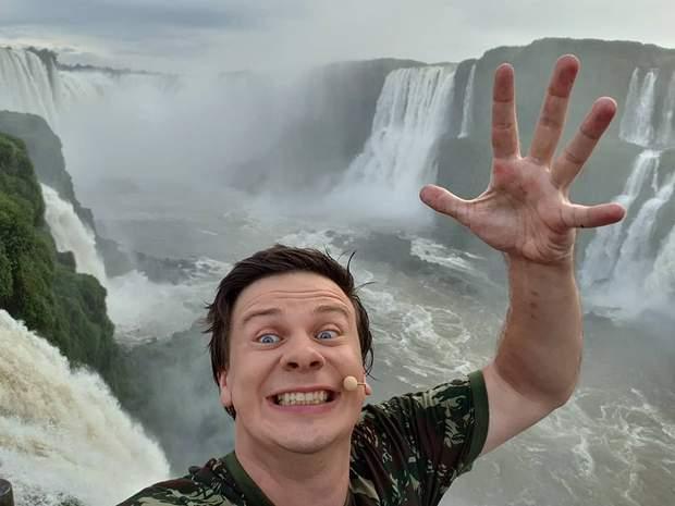 Селфі на фоні водоспаду Ігуасу