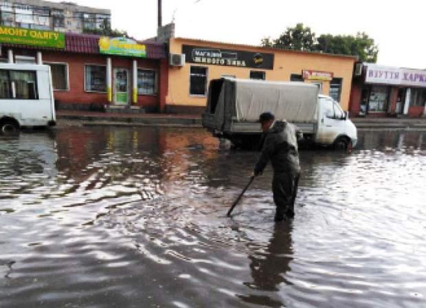 Кропивницький дощ злива негода затоплені вулиці дороги