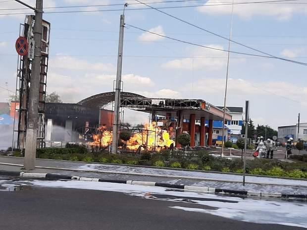 пожежа Житомир автозаправка