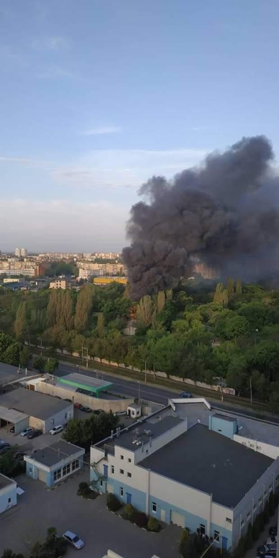 Пожежа, Одеса, військова частина, ДСНС