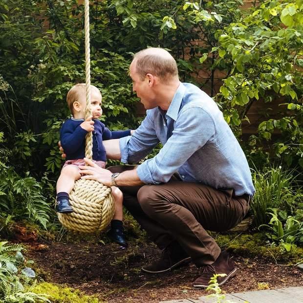 Принц Вільям і його син Луї