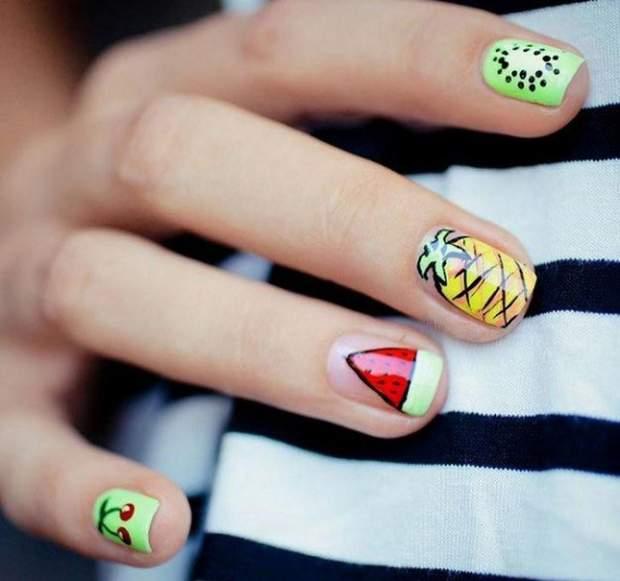 Фруктовий дизайн нігтів