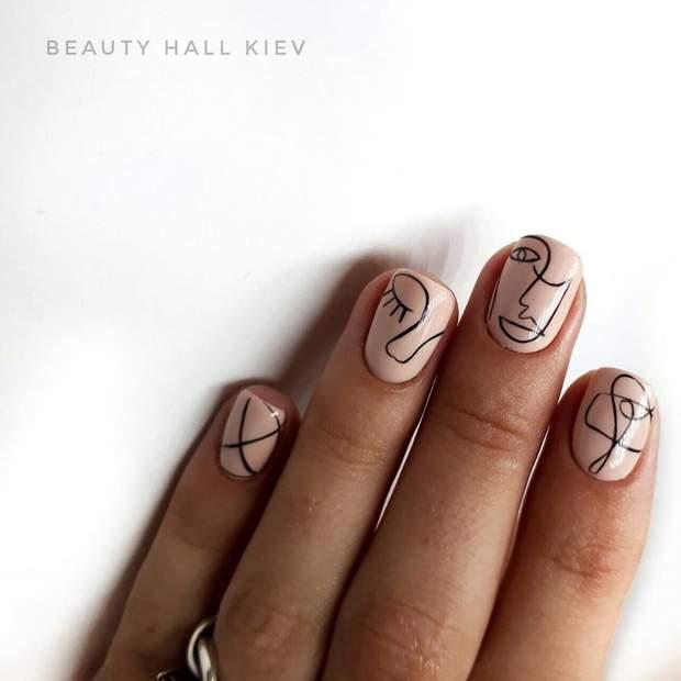 Геометрія на нігтях