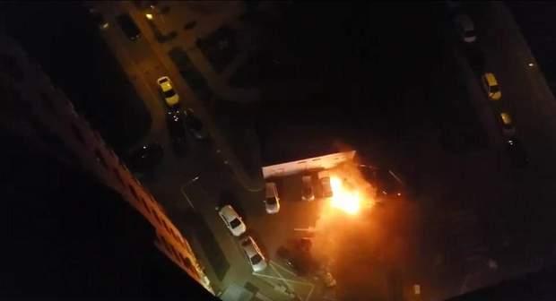 підпалили автомобілі в києві