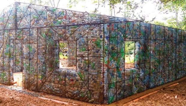 пластик сміття Панама будинок з пластику