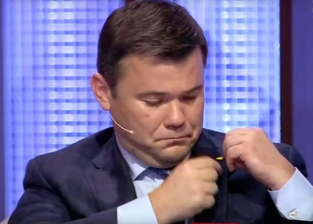 Андрій Богдан Андрій Садовий значок прапор України думайте про Україну