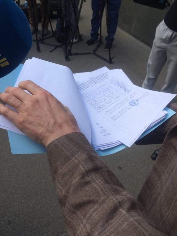 Підписи депутатів для оскарження рішення Зеленського