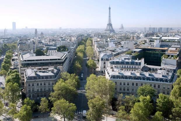Париж панорама Ейфелева трикутна вежа