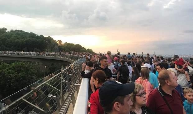 Велосипедно-пішохідний міст у Києві відкриття фото