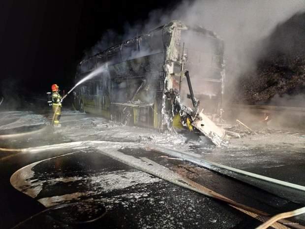 Пожежа в автобусі у Польщі