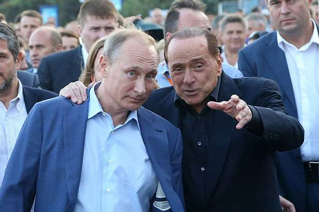 Берлусконі та Путін