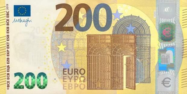 банкнота 200 євро нова