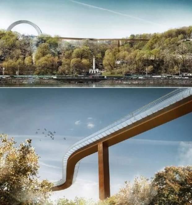 міст Кличка проект швейцарські архітектори