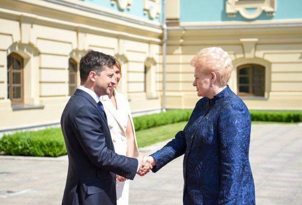 Володимир Зеленський та Даля Грібаускайте