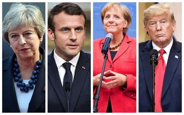 Мей, Макрон, Меркель, Трамп